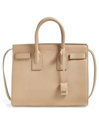 Saint Laurent 'Small Sac De Jour' Grained Leather Tote - Lyst
