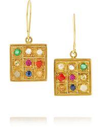 Pippa Small - 18-Karat Gold Multi-Stone Drop Earrings - Lyst