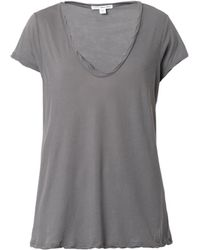James Perse G Scoopneck Tshirt - Lyst