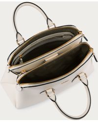 Bally - Berkeley Extra Small Women ́s Extra Small Leather Top Handle Bag In Bone - Lyst