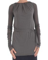 Rick Owens Lilies Sweater-With-Belt - Lyst