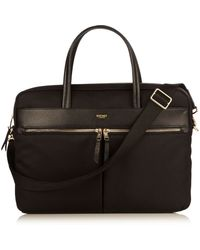 Knomo Hanover 14 Black Lightweight Briefcase - Lyst