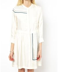 Band Of Outsiders Shirt Dress in Bandana Print - Lyst