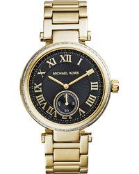 Michael Kors Skylar Crystalembellished Watch Black - Lyst