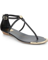 DV by Dolce Vita Alya Faux Leather Flat Sandals - Lyst
