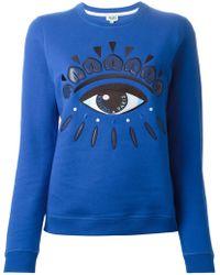 Kenzo Blue 'Eye' Sweatshirt - Lyst