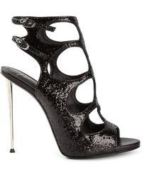 Giuseppe Zanotti Glittered Stiletto Sandals - Lyst