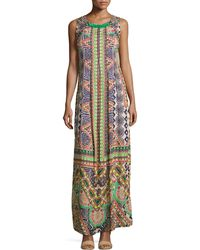 Hemant And Nandita | Sleeveless Embroidered Maxi Dress | Lyst