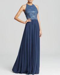 Vera Wang Gown - Metallic Lace Bodice & Chiffon Skirt - Lyst