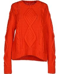 MM6 by Maison Martin Margiela Jumper red - Lyst
