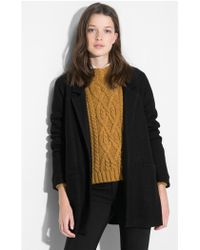 Mango - Unstructured Wool Blend Coat - Lyst