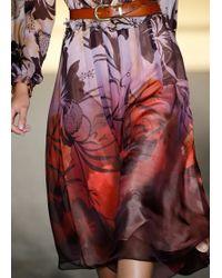 Matthew Williamson Hibiscus Flower Silk Ruffle Trim Dress - Lyst