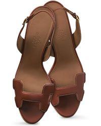 Hermès Night 70 Slingback Heels - Lyst