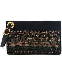 Valentino Eye On You Feather-Embellished Clutch - Lyst