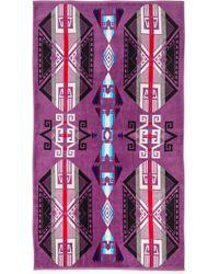 Pendleton - Oversized Jacquard Towel Purple Hills - Lyst