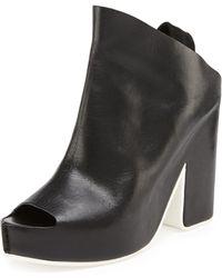 Balenciaga Leather Slingback Sandal - Lyst