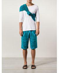 Baja East - Ikat-Print Cashmere Knit Shorts - Lyst