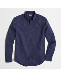 J.Crew Factory Heathered Shirt - Lyst