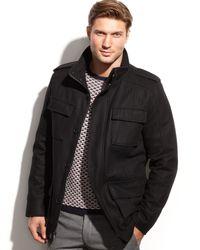Calvin Klein Woolblend Field Coat - Lyst