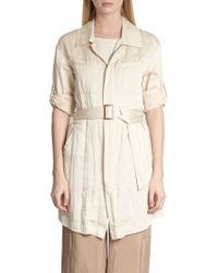 Donna Karan New York Belted Trench Shirt - Lyst