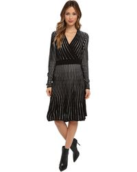 Calvin Klein Long Sleeve Ribbed Sweater Dress - Lyst