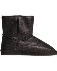 H&M Black Pile-lined Boots - Lyst