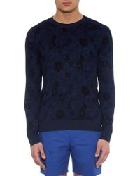 Marc By Marc Jacobs Floral-Print Fine-Knit Sweater - Lyst