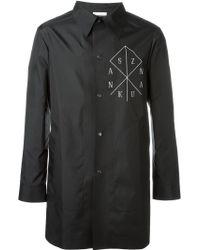 Sankuanz - Logo Print Short Raincoat - Lyst
