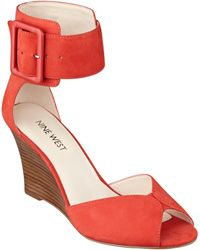 Nine West Crudenza Ankle Strap Sandals - Lyst