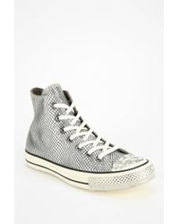 Converse Chuck Taylor Scaled Leather Womens Hightop Sneaker - Lyst