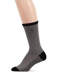 Ralph Lauren Tipped Herringbone Trouser Socks - Lyst