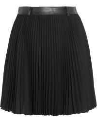 Karl Lagerfeld Bracha Pleated Crepe Mini Skirt - Lyst