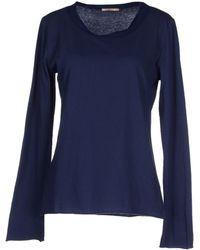 Erika Cavallini Semi Couture T-Shirt blue - Lyst
