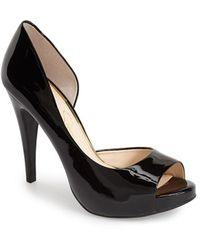 Jessica Simpson 'Cian' Half D'Orsay Peep Toe Pump - Lyst