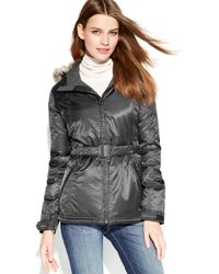 The North Face Greenland Hooded Belted Down Jacket - Lyst