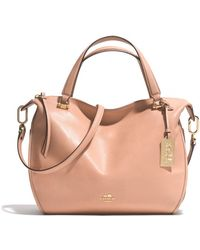 Coach Madison Smythe Satchel in Leather - Lyst
