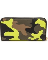 Michael by Michael Kors Printed Zip Around Continental Wallet Acid Lemon - Lyst