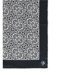 Canali Abstract Floral Pattern Silk Pocket Square - Lyst