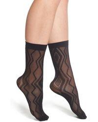 Emilio Cavallini Hosiery - Emilio Cavallini Chevron & Diamond Pattern Trouser Socks - Lyst
