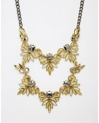 Little Mistress - Statement Double Row Necklace - Lyst