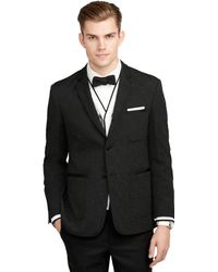 Brooks Brothers Black Tipped Formal Jacket - Lyst