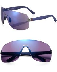 Gucci Metal Shield Sunglasses - Lyst