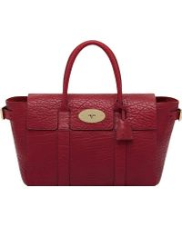 Mulberry Bayswater Buckle Leather Tote Poppy Red - Lyst