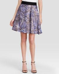 Nic + Zoe Nic + Zoe Stepping Stones Print Skirt - Lyst