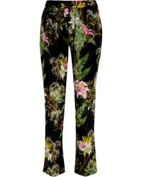 Etoile Isabel Marant Wilford Floral Print Cotton Gauze Tapered Pants - Lyst