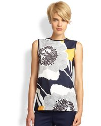 Raoul Printed Sleeveless Shell - Lyst