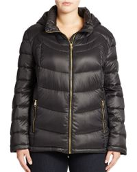 Calvin Klein Zip Front Packable Down Jacket - Lyst