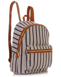 Elizabeth And James Cynnie Striped Woven Backpack - Lyst