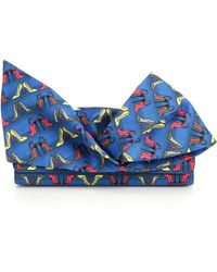 Christian Louboutin Loubibow High-Heel-Patterned Clutch blue - Lyst