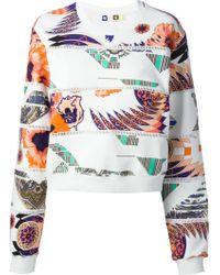 MSGM Mixed Print Sweatshirt - Lyst